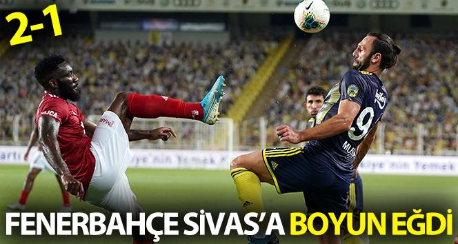 Fenerbahçe sahasında Sivasspor'a 2-1 mağlup oldu