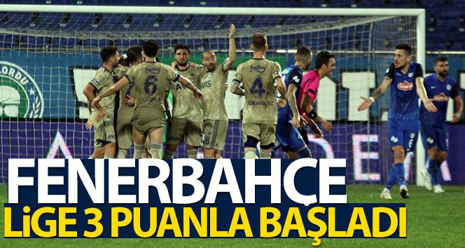 Süper Lig'in ilk haftasında Fenerbahçe, Çaykur Rizespor'u 2-1 yendi