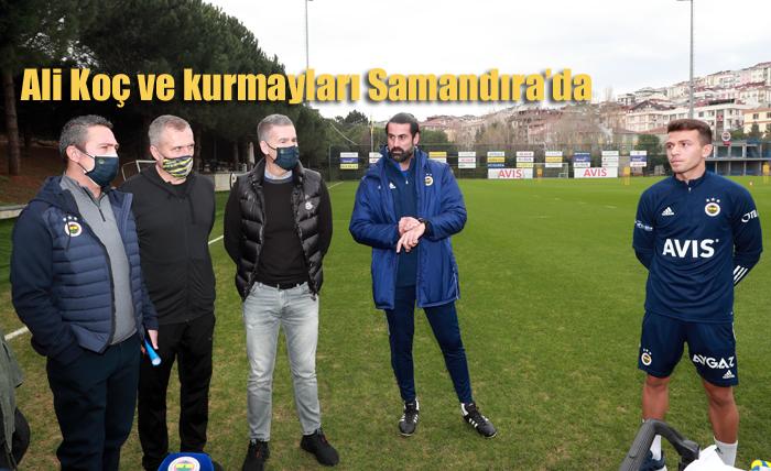 Fenerbahçe Başkanı Ali Koç Kurmaylarıyla Samandıra'da yakın takipte