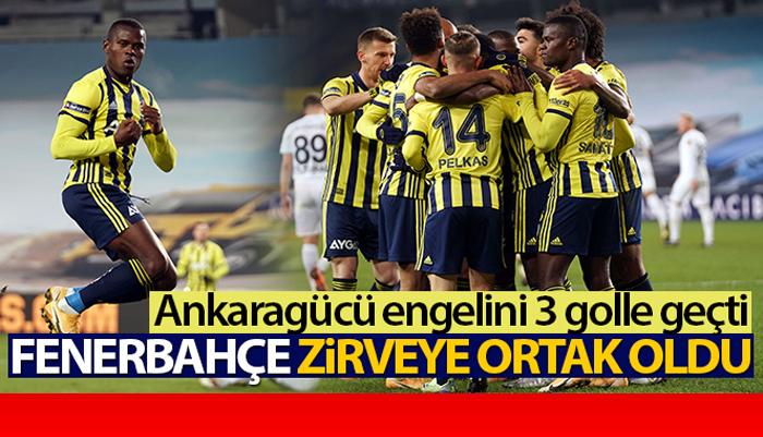 Fenerbahçe, sahasında karşılaştığı MKE Ankaragücü'nü 3-1 mağlup etti