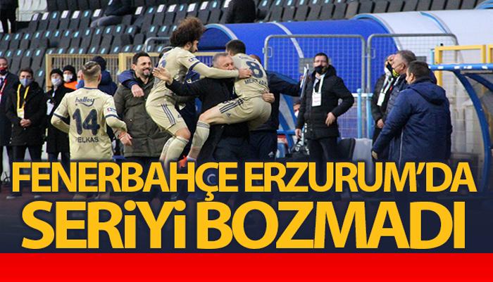Fenerbahçe Erzurum deplasmanında 3 puanı 3 golle aldı