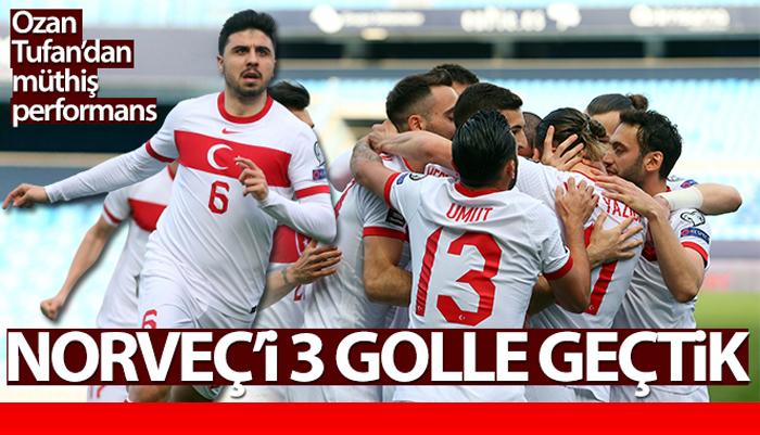 2022 FIFA Dünya Kupası Grup Eleme maçında Türkiye A Milli takımı Norveç'i 3-0'lık yendi